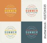 summer holidays retro... | Shutterstock .eps vector #410724535