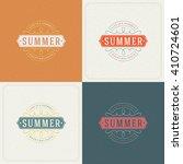 summer holidays retro... | Shutterstock .eps vector #410724601