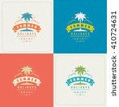 summer holidays retro... | Shutterstock .eps vector #410724631