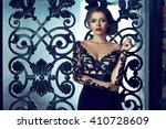 young beautiful sexy woman... | Shutterstock . vector #410728609