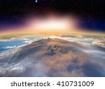 planet earth with a spectacular ... | Shutterstock . vector #410731009