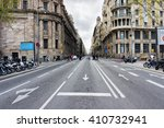 Empty Barcelona Street ...