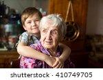 portrait of an elderly woman... | Shutterstock . vector #410749705