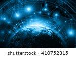 best internet concept of global ... | Shutterstock . vector #410752315