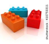 building blocks on white . 3d... | Shutterstock . vector #410753311