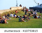 barcelona   may 29  people at... | Shutterstock . vector #410753815