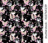 Cats. Seamless Pattern With...