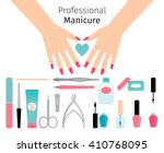 professional manicure poster in ... | Shutterstock .eps vector #410768095