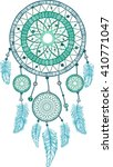 dream catcher with feathers.... | Shutterstock .eps vector #410771047