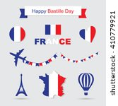 bastille day  independence day... | Shutterstock .eps vector #410779921