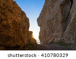 Stock photo rock formations at sunset on a beach of kos island greece 410780329