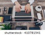businessman at work. close up... | Shutterstock . vector #410781541