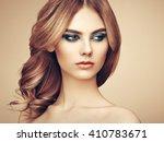 portrait of beautiful sensual...   Shutterstock . vector #410783671
