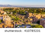 aerial view of the roman forum  ... | Shutterstock . vector #410785231