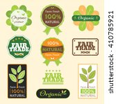 set of organic non chemical... | Shutterstock .eps vector #410785921