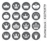 set of crown icons in flat... | Shutterstock . vector #410793979