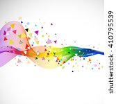 abstract colorful flow wave and ... | Shutterstock .eps vector #410795539
