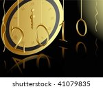 golden 2010 card with midnight... | Shutterstock .eps vector #41079835