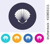 vector scallop seashell icon on ... | Shutterstock .eps vector #410803111