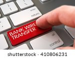 bank wire transfer   modern... | Shutterstock . vector #410806231