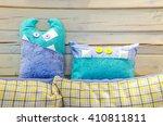 exotic little pillow good... | Shutterstock . vector #410811811