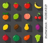fruits set of flat icons. fresh ... | Shutterstock .eps vector #410814319