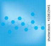 abstract molecules medical... | Shutterstock . vector #410815441