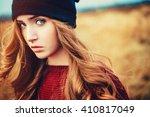 brunette model | Shutterstock . vector #410817049