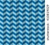 seamless azure blue chevron op... | Shutterstock . vector #410819029