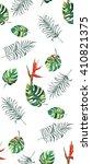 split  leaves  silk palm  bird... | Shutterstock . vector #410821375