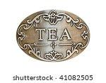 Close Up Shot Of Metal Tea Plate