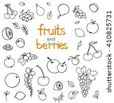 collection of cartoon fruits... | Shutterstock .eps vector #410825731