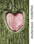 Heart Carved Into The Bark Of...