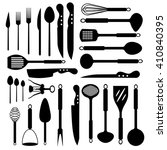 set of isolated kitchenware... | Shutterstock .eps vector #410840395