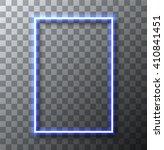 vector modern neon banner on... | Shutterstock .eps vector #410841451
