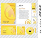 web style template for business ... | Shutterstock .eps vector #41084449