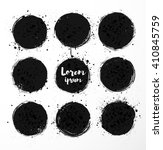 black grunge circles with... | Shutterstock .eps vector #410845759