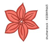 hand drawn flower mandala for... | Shutterstock .eps vector #410849665