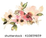 Stock photo flowers watercolor illustration manual composition mother s day wedding birthday easter 410859859