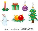 jpeg version. christmas icons... | Shutterstock . vector #41086198