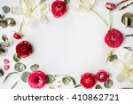 Wreath Frame With Pink And Red...