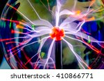plasma ball with purple blue... | Shutterstock . vector #410866771