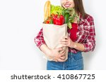 closeup portrait of beautiful... | Shutterstock . vector #410867725