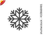snowflake icon  vector... | Shutterstock .eps vector #410868481