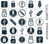 Usb Charging  Flash Drive Icon...