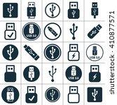 Usb 3.0 Icon Set On White...