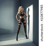 blond beauty woman | Shutterstock . vector #410877985