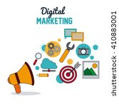 digital marketing over white... | Shutterstock .eps vector #410883001