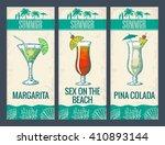 alcohol cocktail set. margarita ... | Shutterstock .eps vector #410893144