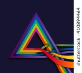 triangle with multicolored... | Shutterstock .eps vector #410894464